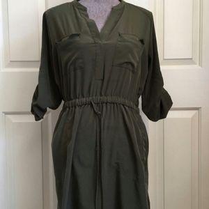 Mossimo Green Shirt Dress